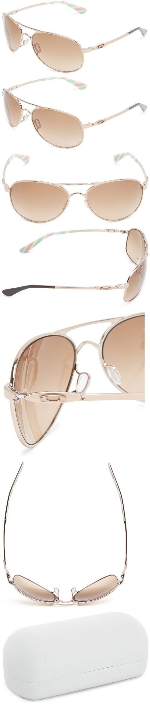 Oakley Aviator Sunglasses, Rose Gold