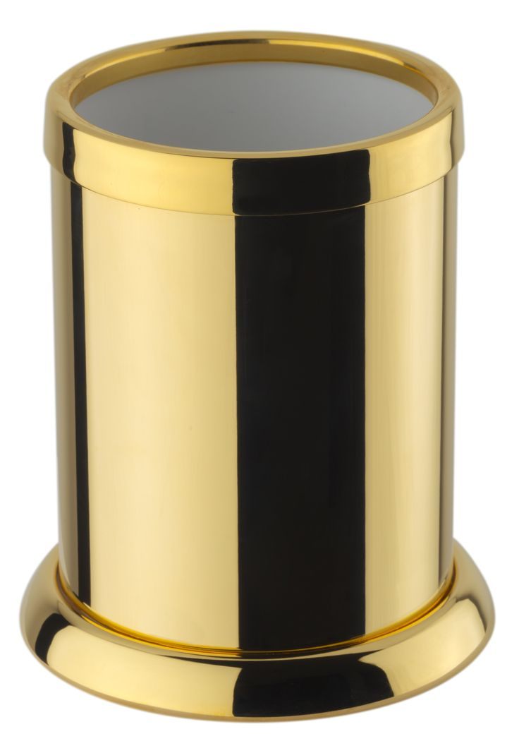 Classic Free Standing Toothbrush Toothpaste Holder Bath Tumbler, Brass
