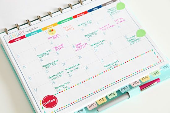 DIY Planner inspiration - IHeart Organizing: My 2013 Daily Planner!