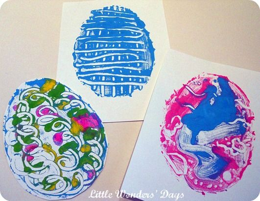Printmaking Easter Eggs