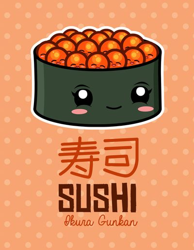 Kawaii Sushi 2013: Ikura Gunkan by The-8th-Sin on DeviantArt