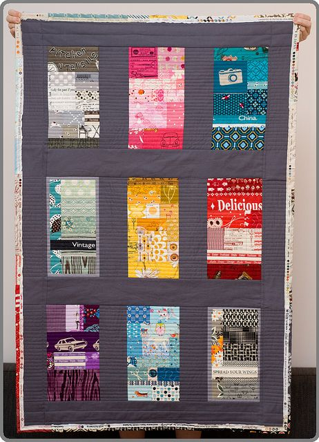 Color quilt! This is fabulous! The gray is perfect.