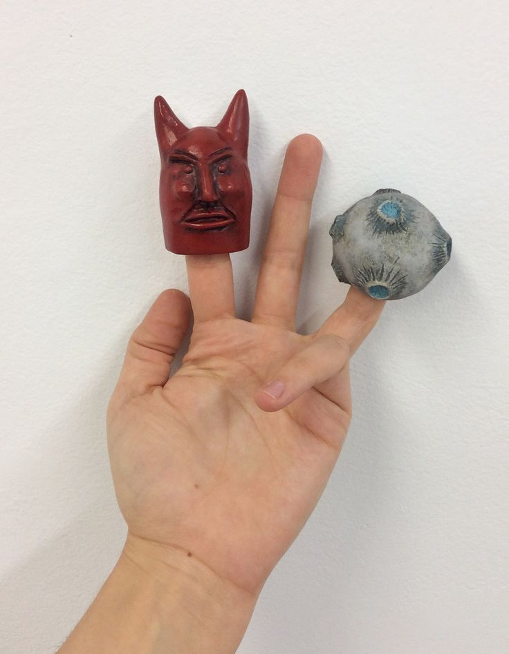 Finger Puppets for The Coming of Spring by Canadian artist Lindsay Montgomery 2014