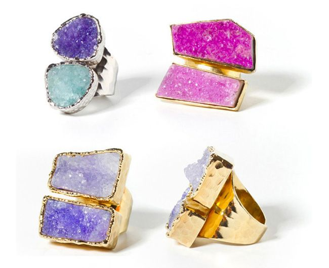 Beso Beso rings. Beautiful colours of amethyst!