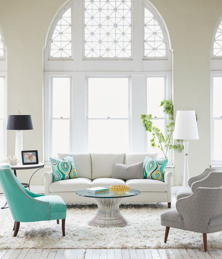 A Little Pop Of Color Can Get Your Room Summer Ready! This Living Room