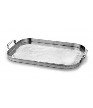 Pewter large rectangular tray cm 37x53