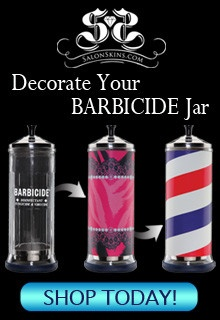 I love this idea of decorating barbicide jars!
