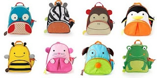 Super-cute kid back packs and lunch boxes from Skip Hop!