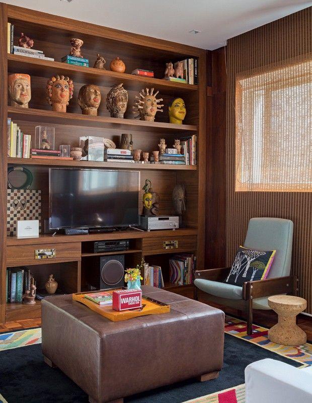 Décor ganha simetria, materiais naturais e peças de design