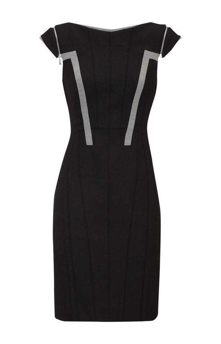 Karen Millen Zip Pencil Dress [#KMM108] - $85.39 :