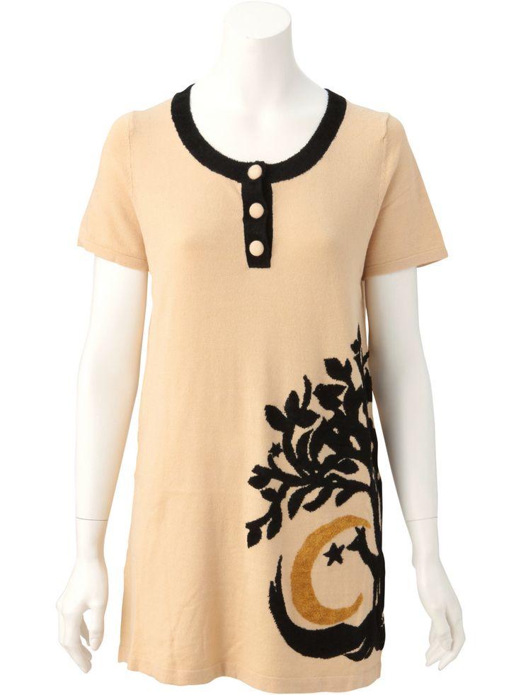 Arbol Mall Moonlight Jacquard Tunic Knit | Jocomomola de Sybilla | Outlet Mail Order (Outlet Online Shop) | [Official Itkin Outlet