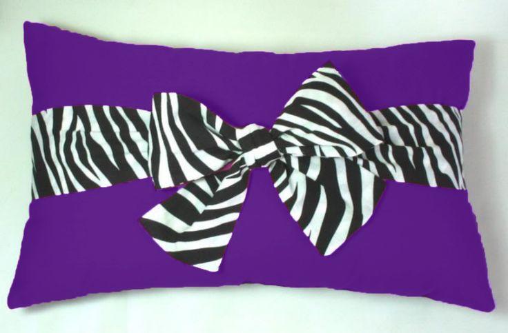 Purple Leopard | Black Purple Zebra Stripe Throw Pillow Sofa Bed Zebra | eBay