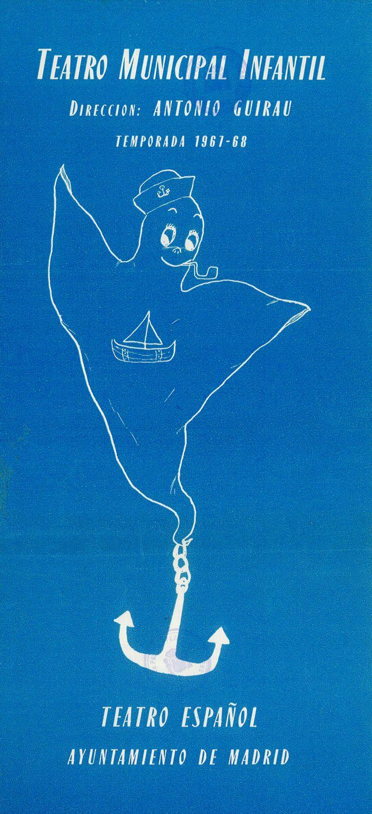 """""""Pluft, el fantasma"""" de María Clara Machado 1968 La Compañía de Teatro Municipal Infantil del Ayuntamiento de Madrid, con la dirección de Antonio Guirau Sena, acercó el teatro infantil al público conquense #Cuenca #TeatroInfantil #TeatroMunicipalInfantilAyuntamientoMadrid #AntonioGuirauSena"""
