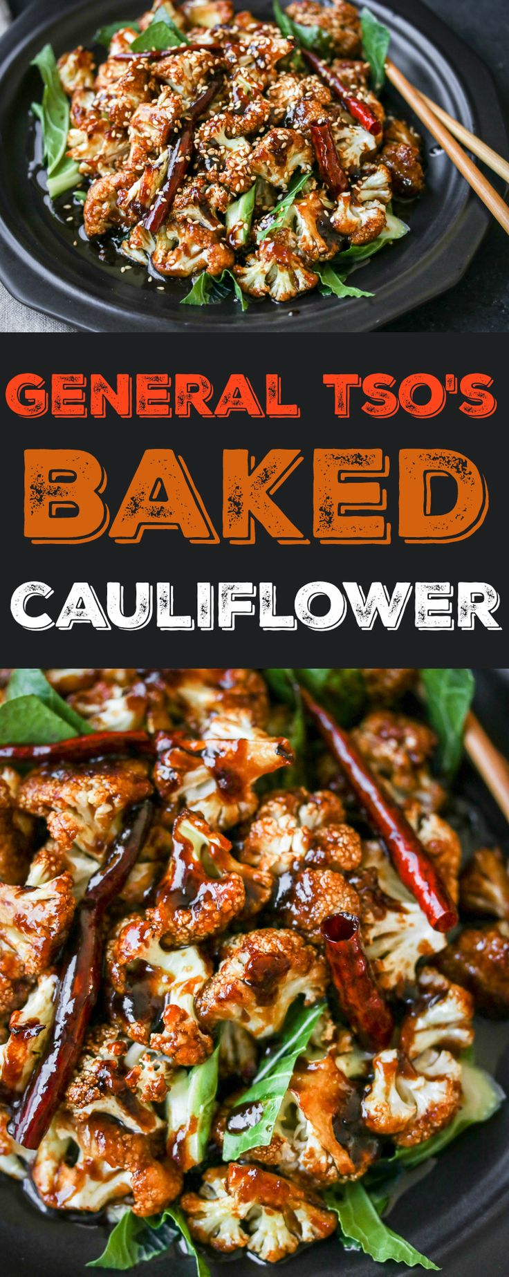 General Tso's Baked Cauliflower - easier, healthier, tastier!
