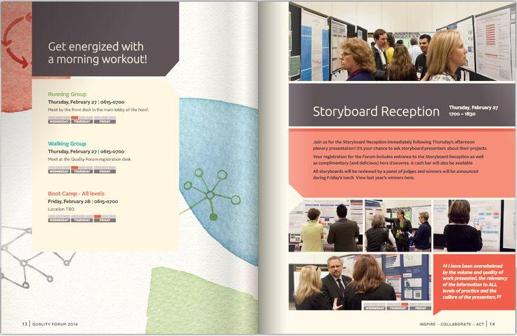 Conference Registration Guide Layout Design Inspiration