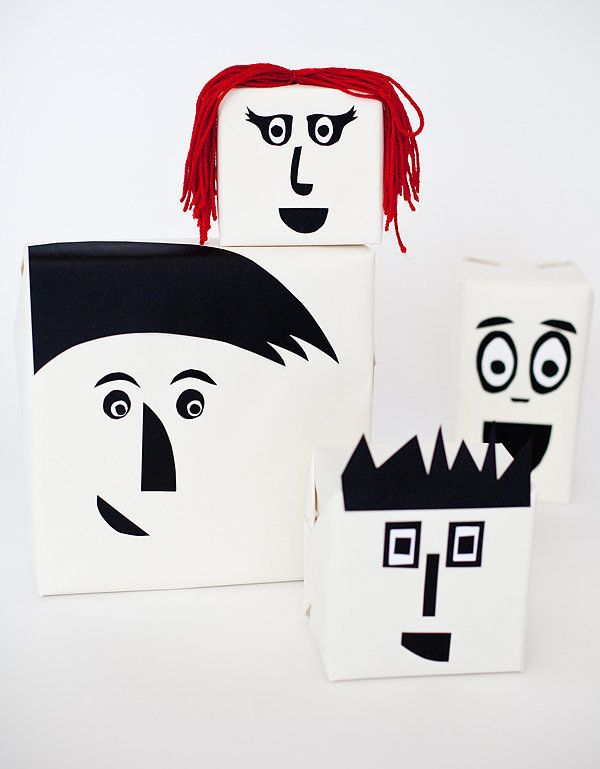 Who says packages don't need personality? These cartoon-like gift wraps are perfect for a kid's birthday.