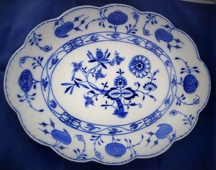 """An exquisite antique Edwardian """"Holland"""" Flow Blue China platter made by Johnson Bros between 1900 and 1915. by Alexsprettyvintage on Etsy"""