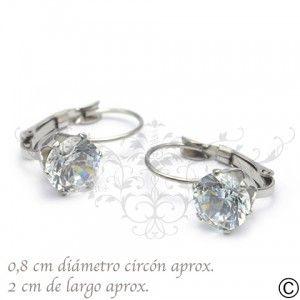 ERT_1051, aros, acero, circón, fiesta, accesorios, moda, joya