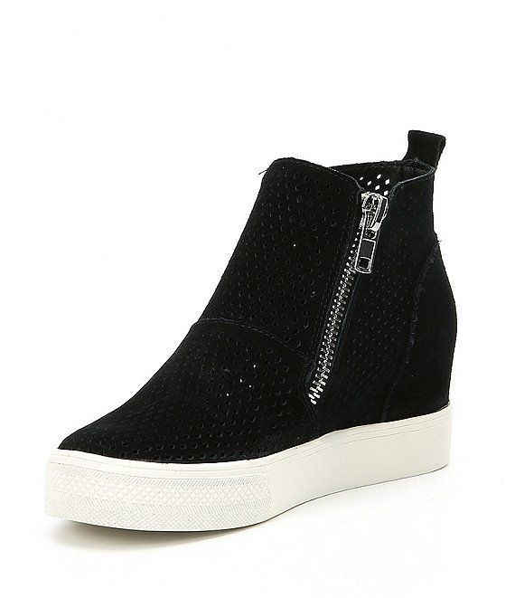 Steve Madden Wedgie Perforated Suede
