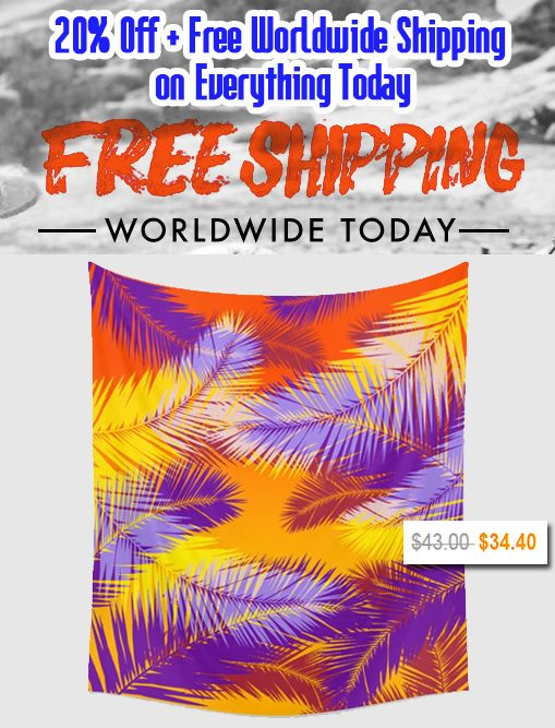 Tropical Sunset Wall Tapestry by Scar Design. #summer #exotic #walltapestry #tropical #sunset #summerhome #summersales #sales #discount #save #freeshipping #summer2017 #summerfun #discountgifts #salesgifts #freeworldwideshipping #beachhouse #homedecor #homegifts #summerhouse