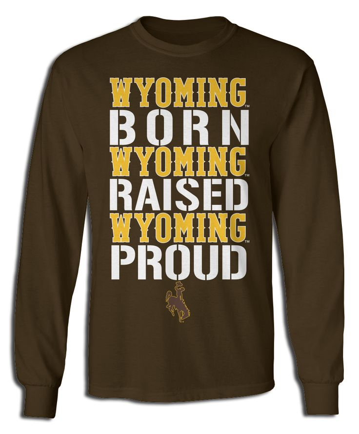 Wyoming Cowboys Official Apparel - this licensed gear is the perfect clothing for fans. Makes a fun gift!