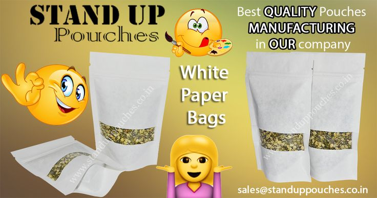 These #standupwhitepaperbags are able to stand unattended on the shelves are able to lure consumers. use for #Coffee #Nuts etc.