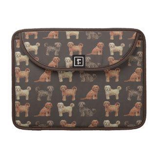 Elegant labradoodle textile Macbook Pro Sleeve