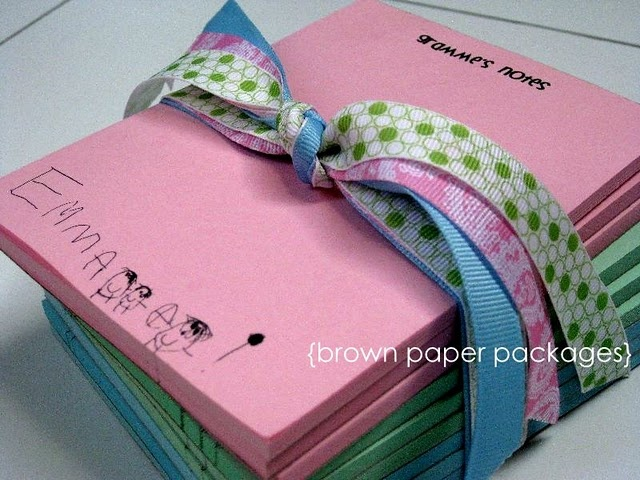 personalized notepads (make for kids this year)