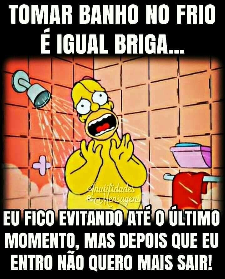 Pin De Edilene Silveira Em Postagens Tomar Banho No Frio Homer Simpson Tomando Banho