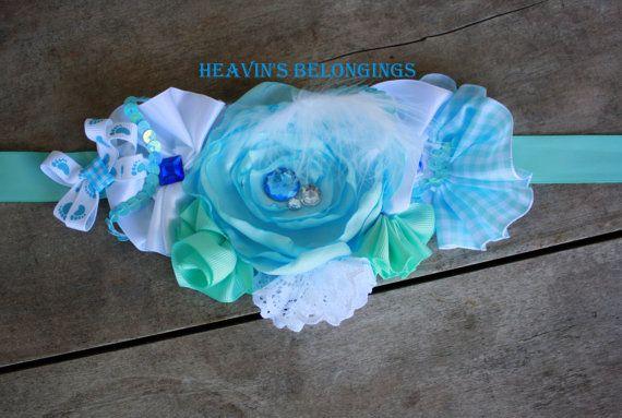 It's a BOY Blue Maternity Belly Sash by HeavinsBelongings on Etsy, $20.00 @Ally Audetat