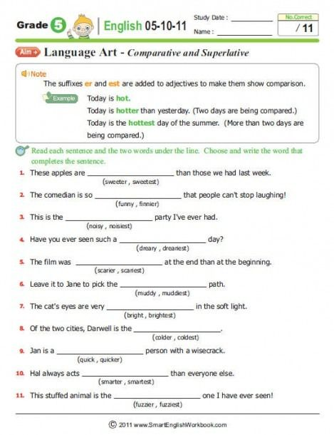 English Worksheets 7th Grade Nouns di 2020
