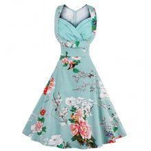 3XL 4XL Плюс Размер Женщины Pin Up Dress Ретро Старинные 1950 s 60 s Рокабилли Цветочные Свинг Летние Платья Элегантный Туника Одеяние Vestidos(China (Mainland))