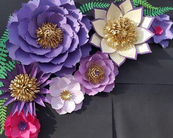 Flores de papel de cuarto de niños decoración cuarto de