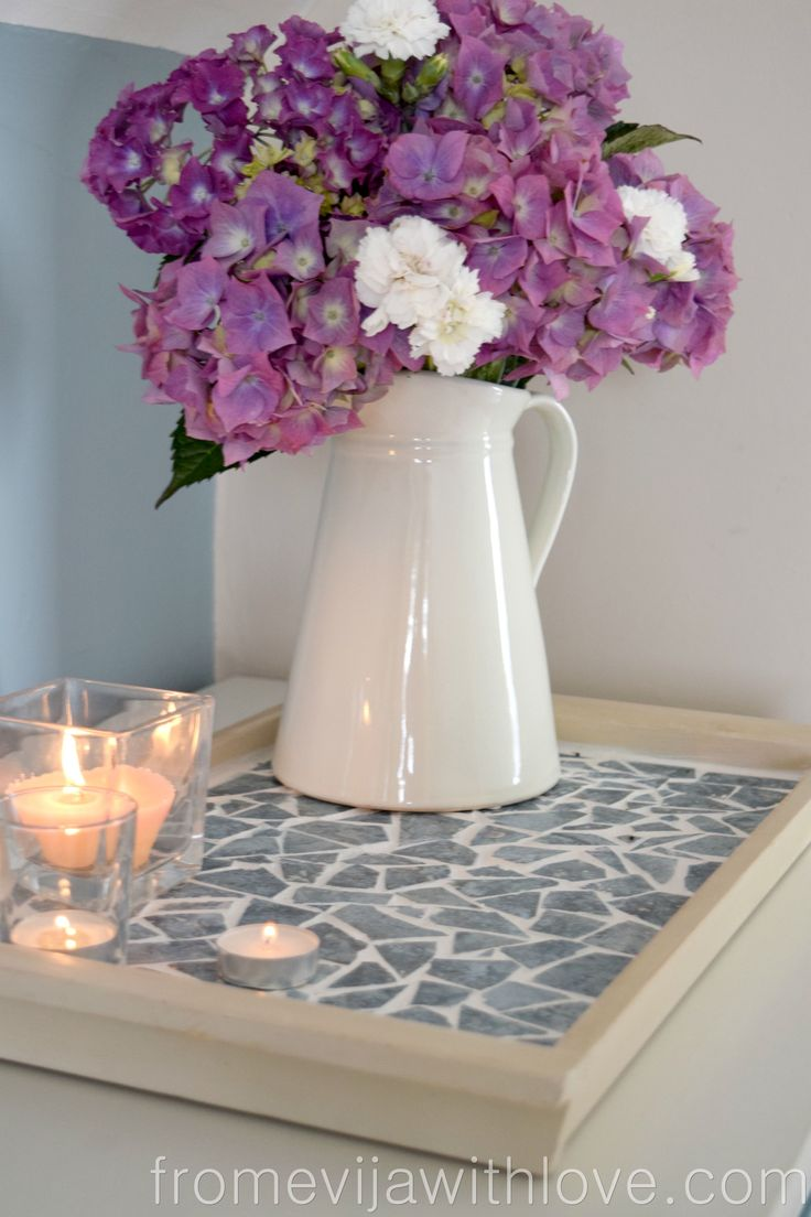 MOSAIC DIY – TRAY MADE FROM LEFTOVER TILES                                                                                                                                                                                 More