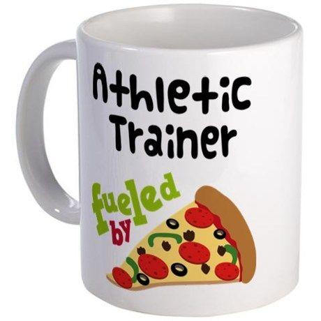 Athletic Trainer Funny Pizza Mug on CafePress.com