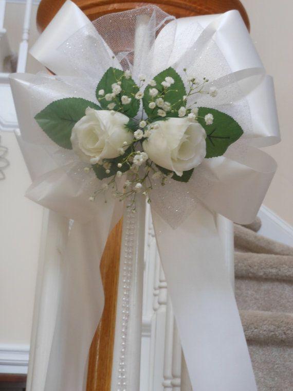 Ihre Farbe Rose Perlen Gold Oder Silber Glitter Tull Bank Bogen Hochzeit Dekor Bogen Hochzeit Kleine Brautstrausse Hochzeitsdekoration
