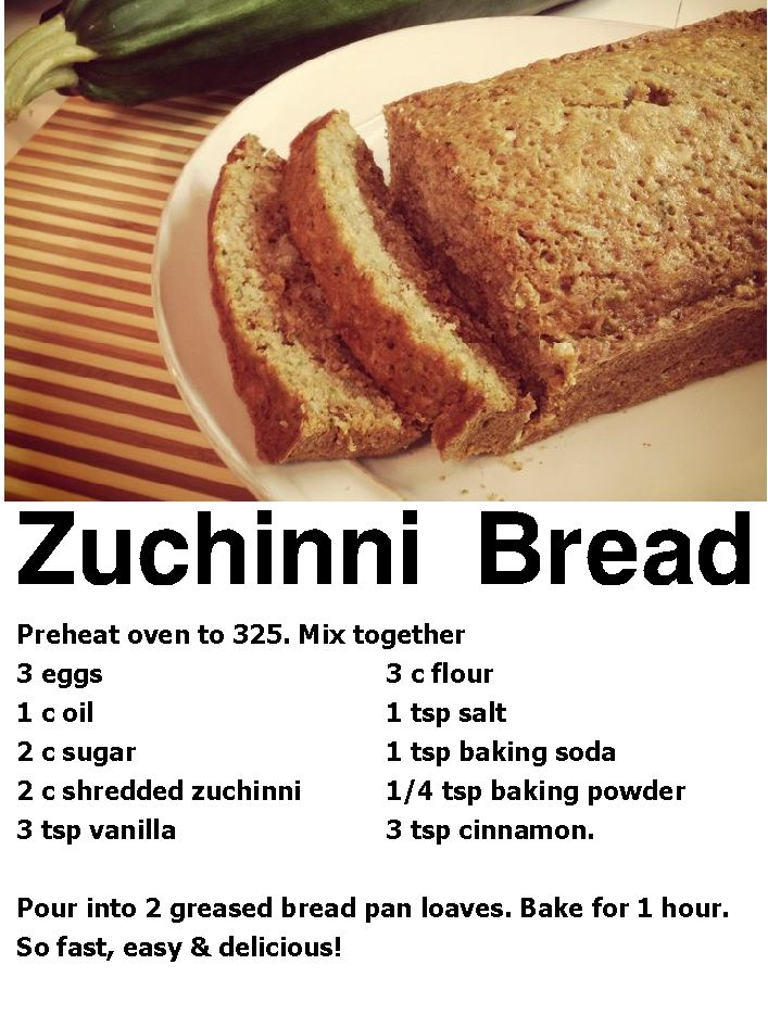 Granny B's Zuchinni Bread
