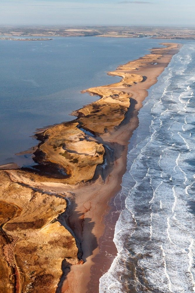 Cavendish Sandspit, Prince Edward Island. - Top 10 Bird's Eye Views of Prince Edward Island.