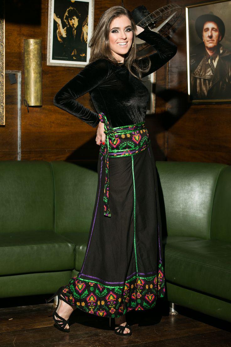 Saia Las Ramblas Flamenco #mundoshakti #boêmia #moda #boho #bohochic #boêmiaurbana #outonoinverno                                                                                                                                                                                 Mais