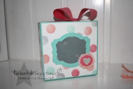 Geschenkbox / Guckloch mit dem Envelop Punchboard von Stampin'Up!