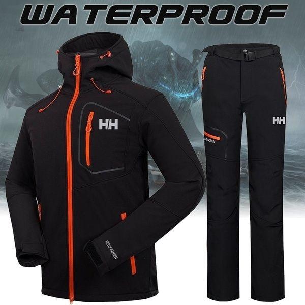 Winter Jacket Waterproof Fishing Skiing Warm Softshell Fleece Hiking Outdoor