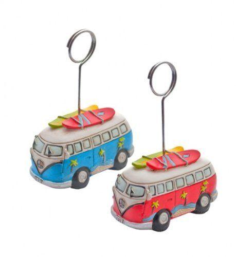 """VOLKSWAGEN VW-Bus & SURFBRETT PHOTO CLIP (Fotorahmen) Fotoclip mit """"VW Campervan / Reisemobil und Surfboard""""-Motiv blau / Hochzeit Platzhalter Giverny Gifts http://www.amazon.de/dp/B00BN4M398/ref=cm_sw_r_pi_dp_WN3Ovb0WDTQ5D"""