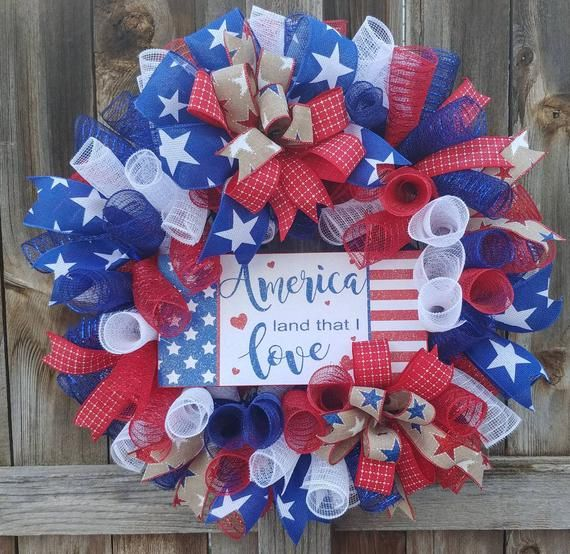 Patriotic wreath, flag wreath, 4th of July wreath, memorial day wreath,July 4th wreath, red white an