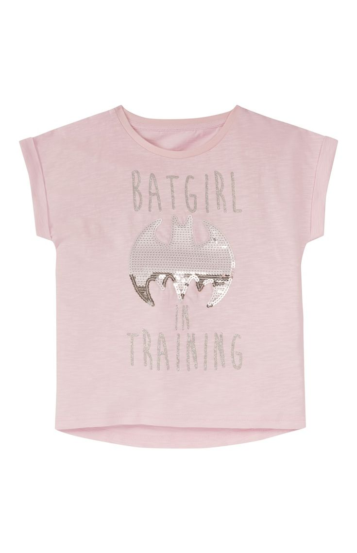 Pink Batgirl In Training Sequin T-Shirt