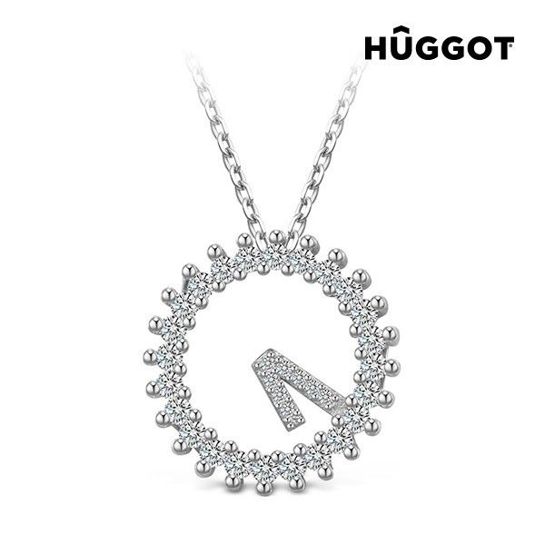 Hûggot Only One 925 Sterling Silver Pendant with Zircons (45 cm) the new collection of jewellery Hûggot!