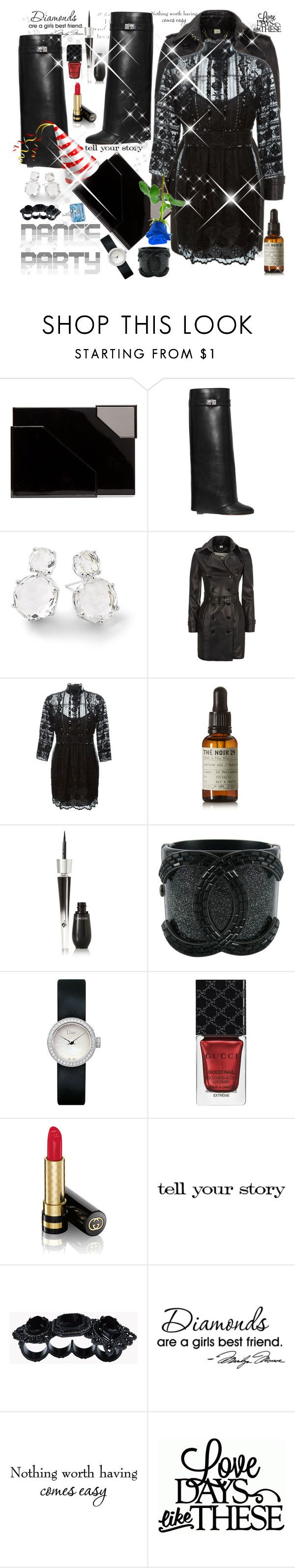 """I apologize, didn't know what to wear ,totally clueless😏"" by seanahr ❤ liked on Polyvore featuring Lee Savage, Givenchy, Ippolita, Burberry, Marc Jacobs, Le Labo, Lancôme, Chanel, Christian Dior and Gucci"