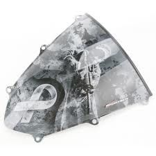 SPORTECH GRAFICH WINDSHIELD MILITARY OEM-profile, high-quality windscreens feature an opaque chrome finish and attention-grabbing graphics unique to each seriesConstructed of 2.36mm (.093