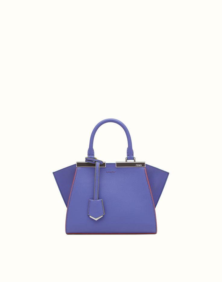 Fendi Mini 3Jours Bag (Berry Purple Calfskin) (£1400)