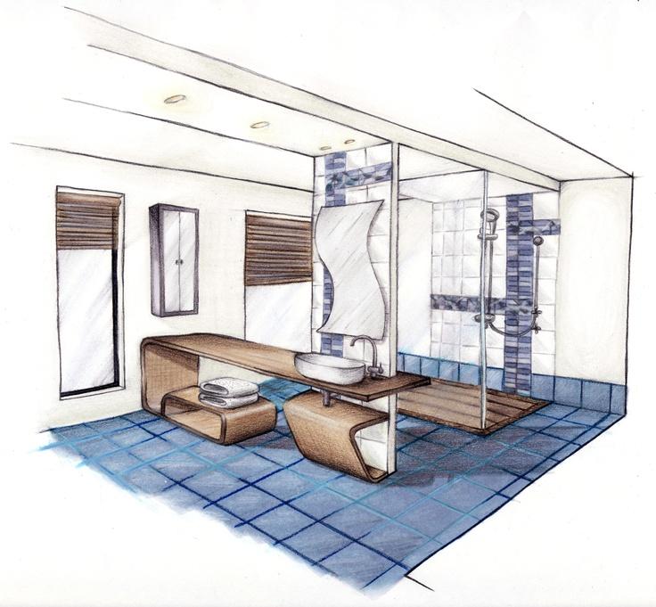 Crosby Tile Challenge - Bathroom Design: Theme: Water - Driftwood in Water