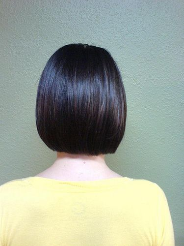 Hair Obsessed: Back view of a one length bob hairstyle (photo)